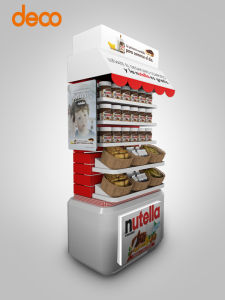 Not off Purchase Cardboard Shelf Display, Floor Display Chocolate Stand for