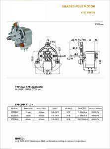 Haute performance 50Hz AC Le pignon moteur électrique pour les appareils ménagers