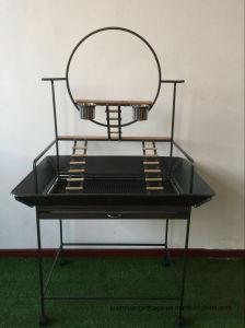 Het Nieuwe Smeedijzer van uitstekende kwaliteit met de Speelplaats van Playstand van de Vogel van de Ring van het Spel