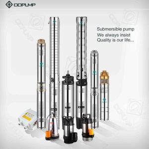 Triphasé pompe submersible à plusieurs degrés en acier inoxydable. Pompe de puits profond
