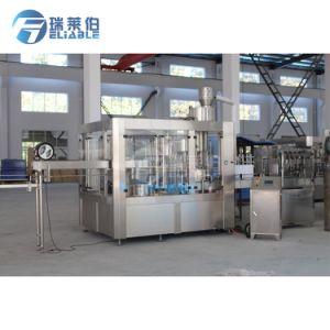 Fiable L'eau potable entièrement automatique Machine de remplissage de rinçage plafonnement 6000bph