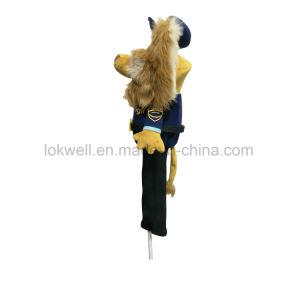 Weicher Plüsch-angefülltes Tier-Löwe-Golf-Geräten-Kopf-Deckel