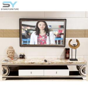 Sala de Estar com alto brilho Suporte para televisor moderno mobiliário Mesa de TV