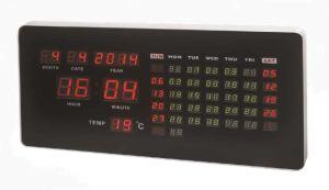 Kalender-Wand-Taktgeber LED-Digital elektronischer voller mit Temperatur-Bildschirmanzeige