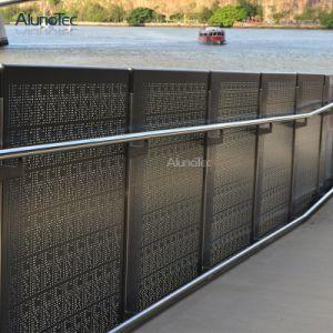 Professional prefabricados baratos cerca de aluminio para jardín