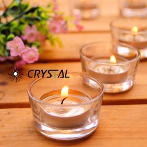 De hoge Witte Kop van het Glas van /Candle van de Houder van de Kaars van het Glas