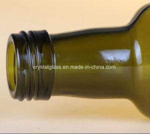 Nahrungsmittelgrad-dunkle Farben-leere runde Olivenöl-Glasflasche 500/750/1000ml