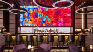 Хорошее качество цельной древесины Custom бар мебель для 5-звездочный отель