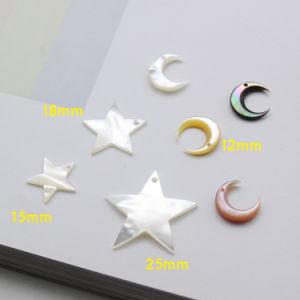 귀걸이를 위한 달 별 모양 자개 구슬