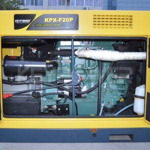가정 사용을%s Keypower 15kVA 단일 위상 닫집 소리 증거 발전기