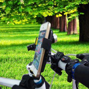 ユニバーサル自転車の電話ホールダーのハンドルバークリップ立場の台紙ブラケットのバイクの電話ホールダー