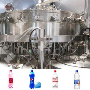 ガラスビンの炭酸清涼飲料の生産ライン