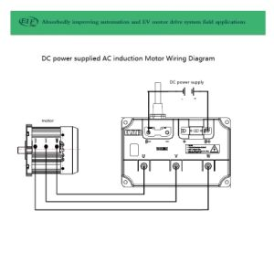 Motor de inducción AC 10kw3000r.p.m.108V con fuente de alimentación CC