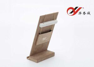 Kundenspezifischer Ausstellungsstand des Firmenzeichen-MDF+Microfiber für Kette