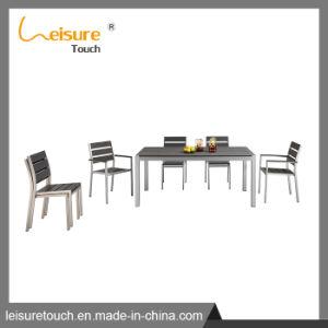 Patio Tabela de alumínio Definir Leisure Poli Madeira Cadeira de Jantar Mobiliário de Jardim