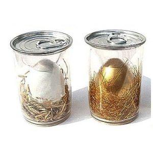 Zelf-gebroken Magisch Ei in Gouden, Witte en Zilveren Kleuren