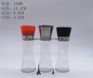 Glasflasche mit farbigen justierbaren manuellen Schleifern 180ml