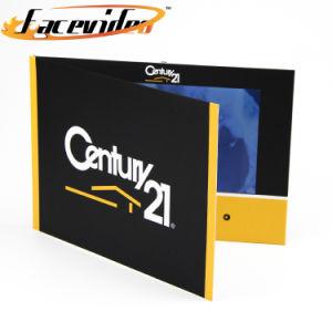 Design Personalizado Facevideo 10.1 polegadas tela LCD Imprimir cartão de saudação a brochura de vídeo para a publicidade de Convite de negócios