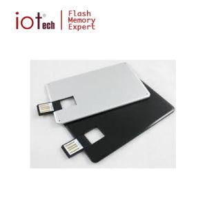 Логотип OEM плоский металлический диск USB кредитной карты 32 ГБ с USB