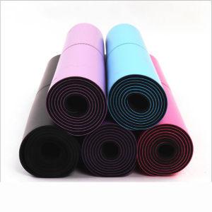 Mat van uitstekende kwaliteit van de Yoga van de Geschiktheid van pvc van het Embleem van de Douane de Antislip