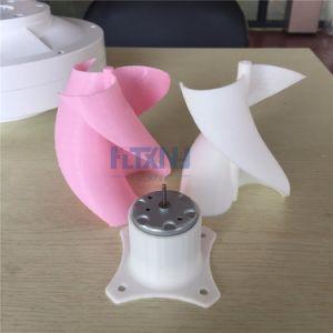 小さいLEDは縦の軸線の風力発電機の刃のフルセットDIYの風発電機の風車のピンクカラー10Wをつける