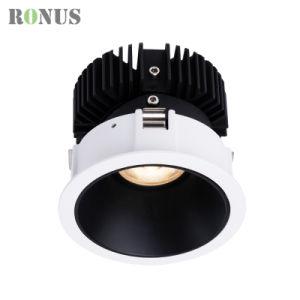 355 Spot LED réglable de rotation de dispositif d'éclairage 10W vers le bas plafond anti-reflets de lumière spotlight ampoule de feu de déflecteur de rafles