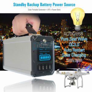Vdowell 300wh Emergency beweglicher Solargenerator mit der nachladbaren Batterie des Löwe-60000mAh aufgeladen durch SolarPanel/AC Adapter, Wechselstrom-Ausgabe 110/220V+DC 5V 2A QC3.0
