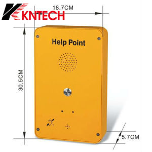 Sos Punto de ayuda exterior GSM de teléfono Intercomunicador con módulo 4G.