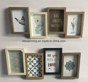 コラージュの写真フレーム、壁の写真フレーム、額縁、木のクラフト、木の装飾、ホーム装飾フレーム、ホームクラフト、ホーム装飾