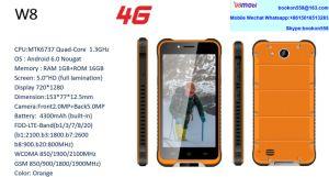 W8 4G FDD Tri-Proof resistente Smart Phone Celulares smartphone móvil