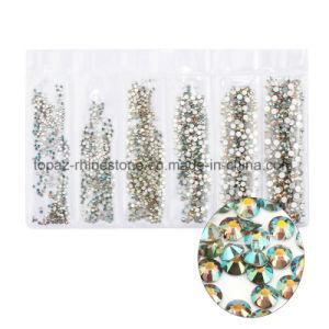 Tamanho diferente de Fractius Rhinestons Flatback Crystal Hotfix volta pedra para decoração de unhas. (FB-SS4 Rainbow)