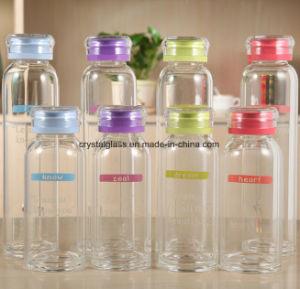 Wärme-widerstehende Wasser-Flaschen-Spitzenglasflasche
