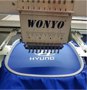 Tampa de têxteis de vestuário Tshirt cabeça única máquina de bordado computadorizada