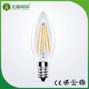 Dimmable Kerze-Birne ohne Filcker E14 4W LED Heizfaden-Birnen-Licht