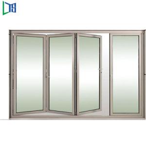 Doppi portelli di piegatura/portello di alluminio di vetro lustrati durevoli balcone della fisarmonica