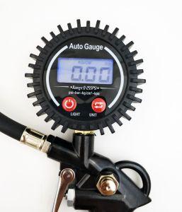 Manómetro Digital Inflador de neumáticos con aire Chuck y Manguera de manómetro de aire para vehículos y motocicletas