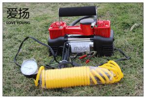En el cilindro de doble compresor de aire auto eléctrico de neumáticos