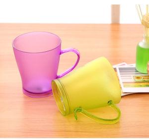 Boa qualidade de Vermelho/Amarelo/Azul Dull Polonês caneca de plástico