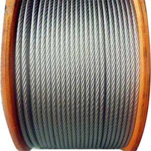 Corda galvanizzata 6*25 del filo di acciaio