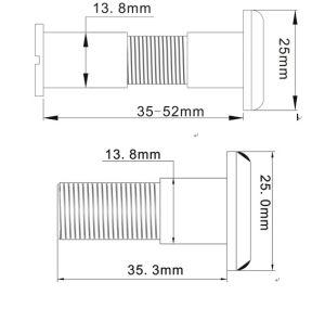 I mini 0.5  diametri di HD 90 gradi Vie la macchina fotografica di Peephole del portello