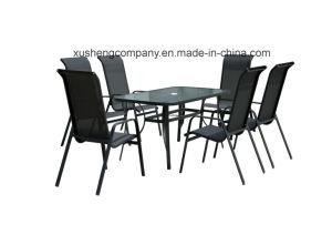7pcs Conjunto de mobiliario moderno en la tabla+sillas