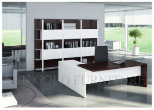 Ufficio Moderno Sa : Scrittorio moderno dellufficio di legno bianco e nero sz od203