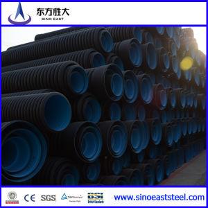 HDPE Double-Wall tubo corrugado para el drenaje del agua Tubería subterránea