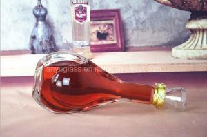 ステッカーのロゴの熱い押す優秀なガラスアルコール飲料のびんをカスタマイズしなさい