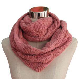 Pashmina Acrylic Knitted Fashion女性ループスカーフ(YKY4313-1)