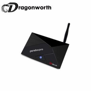 Haus verwendeter Pendoo PRORk3328 2g 16g Fernsehapparat-Kasten-Media-Kasten IPTV mit beste PreisAndroid7.1 intelligentem Android Fernsehapparat-Kasten