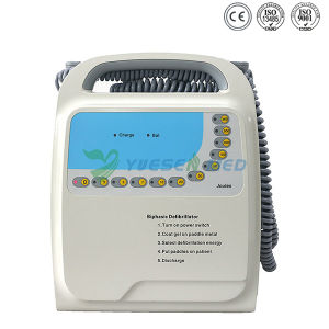 Automatiseerde Medisch Draagbaar TweefasenAED van het ziekenhuis Externe Defibrillator Lifepak