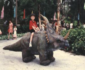 Modello di simulazione/realistico dinosauro per il giro