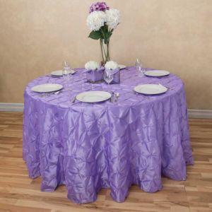 Comercio al por mayor El poliéster blanco de tela mantel de mesa redonda de la boda parte cubierta de mesa