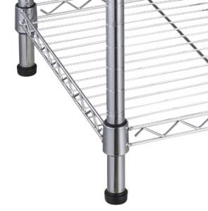 5 niveles de cromo comercial Estantería Metálica de estante de alambre de rack